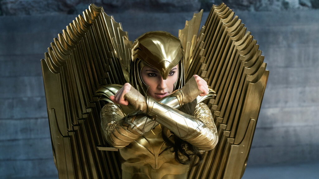 GAL GADOT as Wonder Woman in Golden Armour