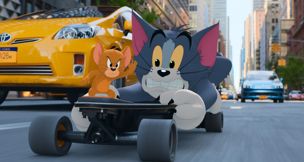 """JERRY and TOM in Warner Bros. Pictures' animated/live-action adventure """"TOM AND JERRY,"""" a Warner Bros. Pictures release."""